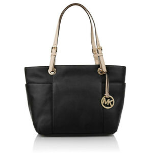 MICHAEL-KORS-LEDERTASCHE-Jet-Set-ITEM-TZ-TOTE-black-schwarz