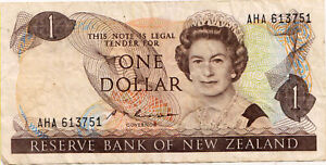 Bank-Note-Of-New-Zealand-1-00-Face-Value-Nice-1