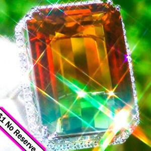 Ametrine-Ring-14K-GOLD-67-39ct-Diamond-BI-COLOR-Amethyst-Citrine-ESTATE-Ring