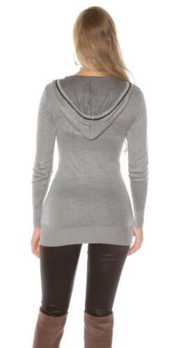 Koucla Longpullover Pullover Sweater Sweatshirt mit Glitzer-Print
