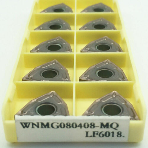 10pcs WNMG080408-MQ LF6018 CNC Carbide turning inserts for stainless steel