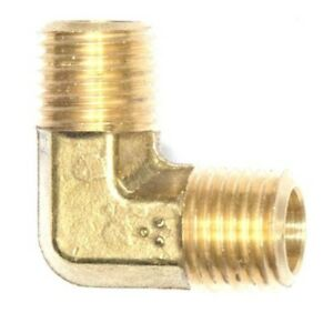 "3/8"" Male BSP 90 Degree ELBOW Brass Fuel, Air, Water, Oil, Gas British Metric"