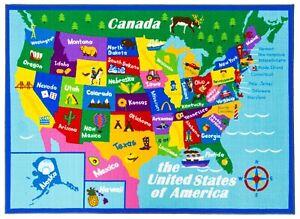 New Educational USA States Map / Princess World Reversible