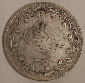 TURKEY-1293-1-20-Silver-Kurush-Murad-V-Rare