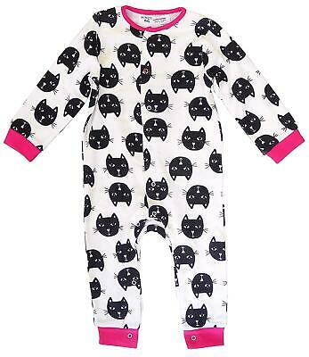 12 Months Girls Romper Minoti Baby Kitten Cat Babygro Sleepsuit Cotton Newborn