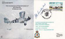 70th Anniv Formation 11 Sqdn Signed ACM Sir H.Constantine, WW2 Bomber pilot
