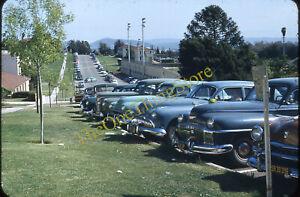 Cal Poly Cars Street Scene University CA 1950s 35mm Slide Red Border Kodachrome