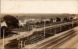 Maxwell-Nebraska-Plummer-Street-Across-Railroad-Tracks-Homes-Farm-1913-RPPC