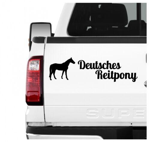 Deutsches Reitpony Pony Aufkleber 3er Set Pferdeaufkleber Pferd reiten Auto Foli