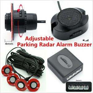 Universal-4x-16mm-Flat-sensores-de-aparcamiento-de-insercion-en-Coche-Alarma-De-Reversa-Respaldo