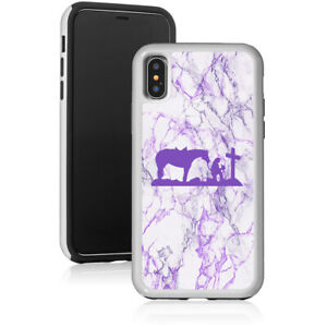 Marble-Shockproof-Hard-Case-Cover-For-Apple-iPhone-Cowgirl-Praying-Cross-Horse