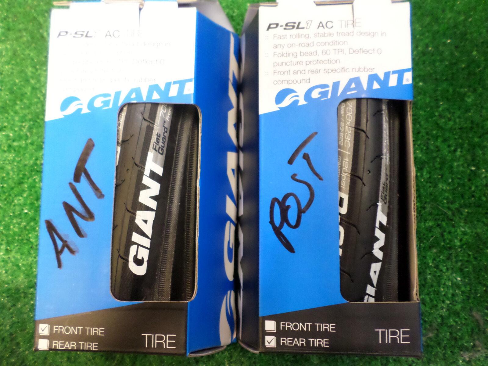 GIANT copertone front front front rear bici bike tire tyre P-SLR 1 AC copertura 700 x 23 5f9181