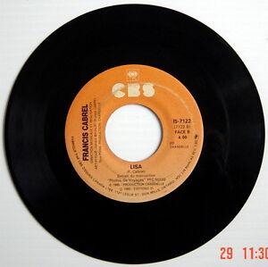 DISQUE-45-TOURS-DE-1985-FRANCIS-CABREL-ENCORE-ET-ENCORE-LISA