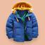 Mode-enfants-VESTE-Avec-Capuche-Parka-Matelasse-Manteau-Garcon-hiver-manteau-Taille-104-146 miniature 4