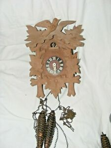 VINTAGE-BLACK-FOREST-CUCKOO-CLOCK-FOR-RESTORATION-WITH-WEIGHTS-CUCKOO