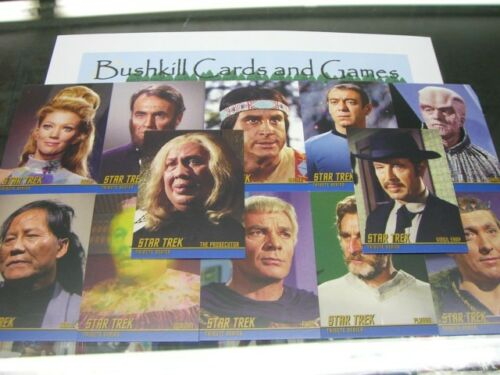 TOS Tribute 12 Card Set Star Trek The Original Series Heroes and Villains