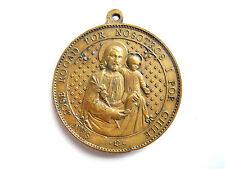 """DULCE CORAZON DE JESUS, JOSE ROGAD POR NOSOTROS I POR CHILE"""" Bronze 19.Jh."""