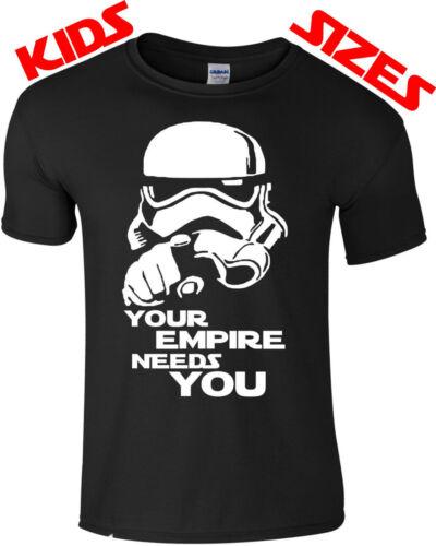 Enfants star wars l/'empire a besoin de vous fun design nouveau film T-shirt Tailles S-XXL