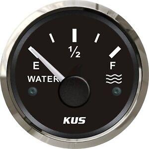 Marine Water Level Gauge Boat Water Tank Level Indicator 52mm 0-190ohms  !