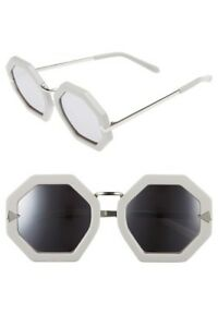 ca77c8f60ea Image is loading Karen-Walker-Moon-Disco-Sunglasses-Grey-Mirror-Silver-