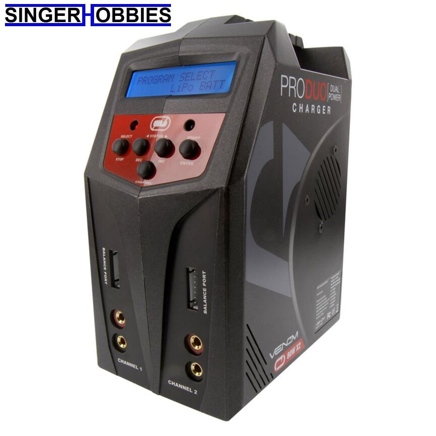 Venom Pro 160W Duo AC DC LiPo & NiMH Battery Charger VNR0685 HH