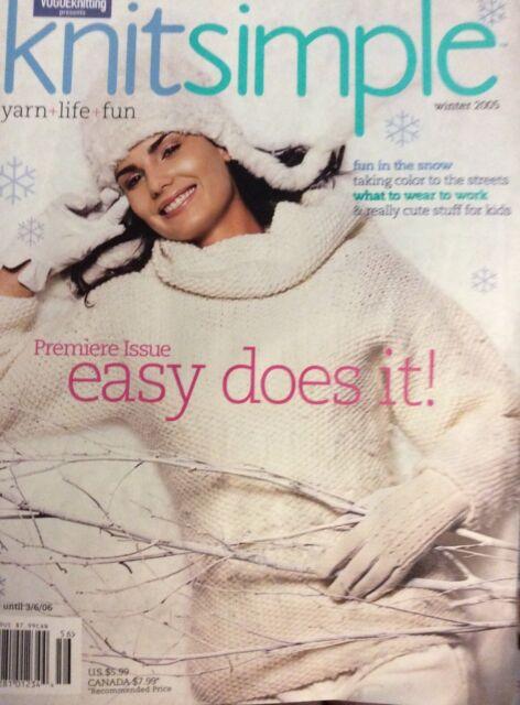 Vogue Knit Simple Knitting Crochet Patterns Hat Scarf Mitten Leg