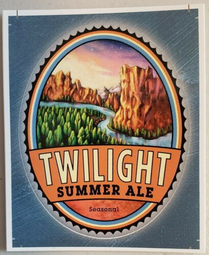 Deschutes Brewery Twilight Summer Ale Tap Sticker Decal Craft Beer Brewing New!!
