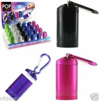 One Led Flashlight Pop Light Keychain Magnetic Carabiner Clip Choice Of Color