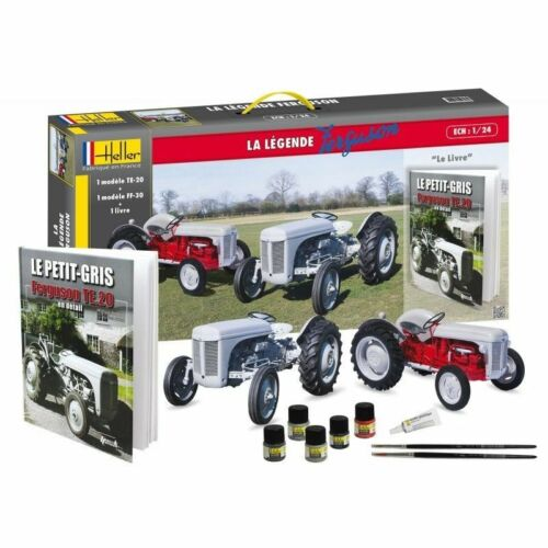 Heller 52323 1:24th la legende Ferguson Tractor gift set TE-20 & FF-30 with book