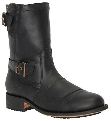 Grinders Route 66 schwarz Mens Leather Stiefel Cowboy Western Zipped Pointed Stiefel