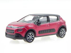 Citroen-C3-2016-red-black-diecast-modelcar-310611-Norev-3inch