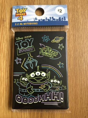 Disney Primark Toy Story Green Alien Notebooks Pack Of 3