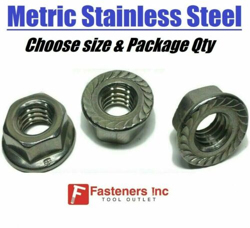All Sizes /& Qty/'s Stainless Steel Metric Hex Cap Flange Bolts Screws Serrated