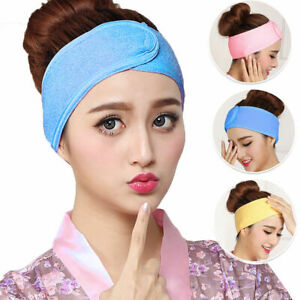 Women-Hair-Band-Wrap-Plain-Wide-Headband-For-Bath-Shower-Yoga-Sport-Accessory