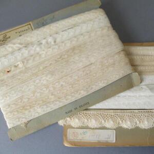 2-Bolts-Vintage-Slender-Valenciennes-French-LACE-Trims-1-2-034-1-034-Wide-DOLLS
