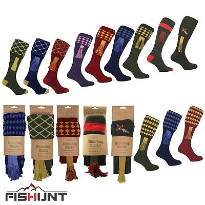 Long Shooting Socks 4 Colours complete with Garters  size 8-11