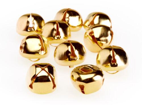 20mm Dia Various Packs GOLD Jingle Bells Charm Craft Christmas Morris Dancer