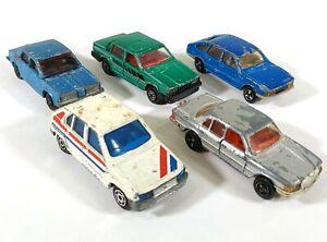 5-X-majorette-Coche-Mercedes-Benz-SIMCA-Volvo-D223-Diecast-Vintage-Gris-Azul-Verde