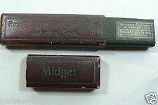 Vtg Waterloo Rose's Scalp Massage House Midget razor Germany Original Box Only