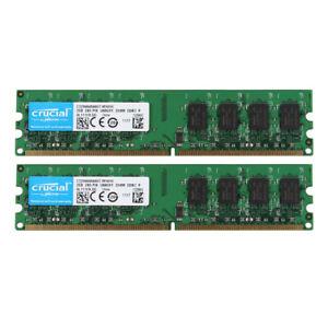 Crucial-4GB-2X-2GB-PC2-5300U-DDR2-667MHz-2RX8-Desktop-Memory-Intel-RAM-DIMM-ST