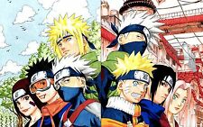 Poster A3 Naruto Shippuden Naruto Sasuke Sakura Kakashi Minato Obito Rin