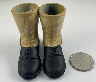 Hasbro GI Joe KOREAN WAR BROWN BOOTS W// LEGGINGS 1//6 Scale LOOSE Shoe Accessory
