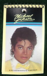 MICHAEL-JACKSON-PHOTO-VINTAGE-1984-SMALL-3-x-5-INCH-SPIRAL-MEMO-PAD-NOTEBOOK