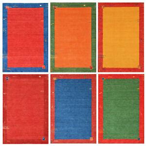Morgenland-Tapis-Gabbeh-BAROSSA-couleur-unie-nomades-motif-fait-main-laine