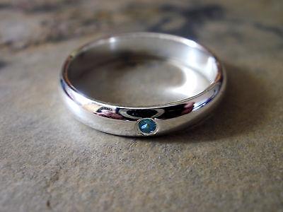 Brillant Damen Ring - Silber Plattiert - Blauer Strass Stein - Schmuck 0417 SchöN In Farbe
