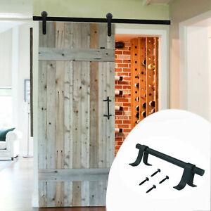 20cm-Sliding-barn-Door-Handles-Pull-Set-Cabinet-Closet-Garage-Door-Handle-Black