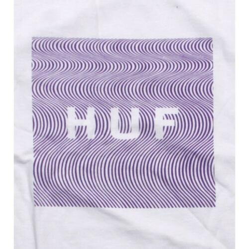white $36.00 HUF Illusion Original Logo Tee HUFTS03LSNWHT