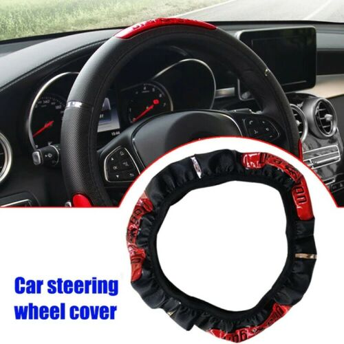 Vecligt Faux Leather  Anti-slip Steering Wheel Cover 15inch//38cm  Heat resistant