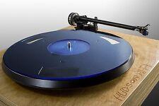Audiophile Acrylic Turntable Mat | BlueLine | Slipmat Made in USA Rega Pro-Ject