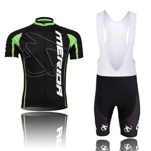 Merida-Team-Men-039-s-MTB-Bike-Bicycle-Clothing-Set-Cycling-Jersey-amp-Bib-Short-Set